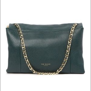 Ted Baker Dark Green Pebbled Leather Genifer Purse